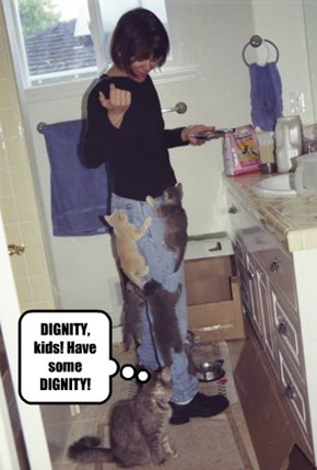 DIGNITY, kids! Have some DIGNITY!