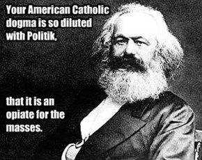 That burn is going to leave some Marx