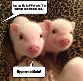 Science geek piglets always have something to say during story time.