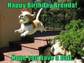 Happy Birthday Brenda!  Hope you have a ball.