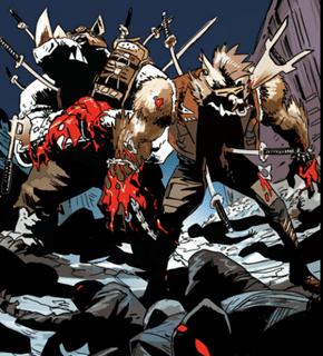 Battle Damage Bebop and Rocksteady