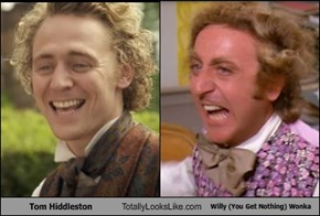 Tom Hiddleston Totally Looks Like Willy (You Get Nothing) Wonka