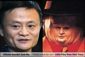 Alibaba founder Jack Ma Totally Looks Like Little Face from d*ck Tracy