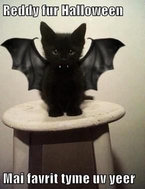 Reddy fur Halloween  Mai favrit tyme uv yeer