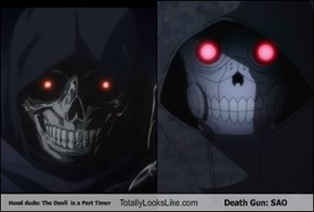 Hood dude: The Devil  is a Part Timer Totally Looks Like Death Gun: SAO