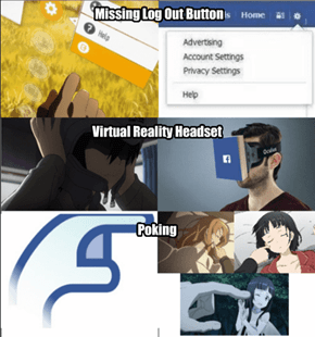 Sword Art Online is Facebook