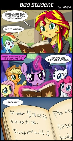 Sunset Shimmer was never good at spelling