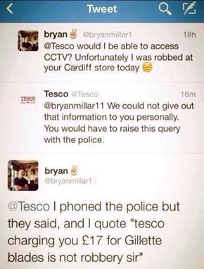 Criminal Activities Courtesy of Your Local Tesco
