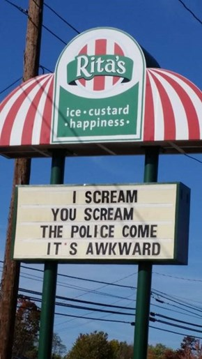Ice Cream Can Be Dangerous