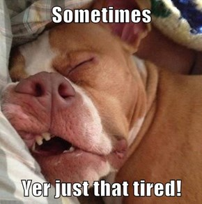 Sometimes  Yer just that tired!