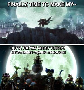 Sorry, Shadow. Maybe in the Next Smash.