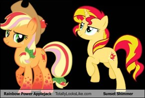 Rainbow Power Applejack Totally Looks Like Sunset Shimmer