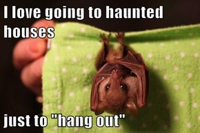 """I love going to haunted houses  just to """"hang out"""""""