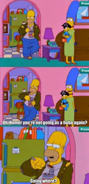 Homer Sums Up Many of Our Halloween Costume Plans