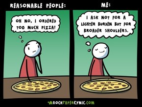Reasonable People Dealing With Pizza