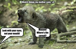 Weird things my mother says, #4