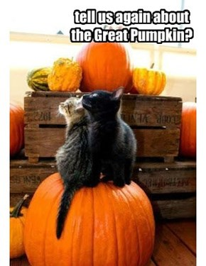 tell us again about the Great Pumpkin?