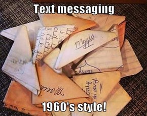 Text messaging  1960's style!