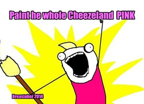 Paint he whole Cheezeland  PINK