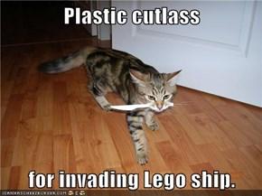 Plastic cutlass  for invading Lego ship.