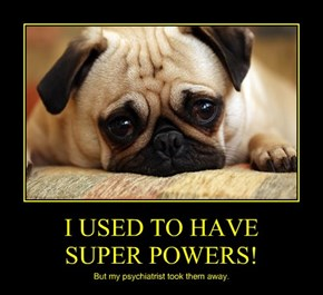 I USED TO HAVE      SUPER POWERS!