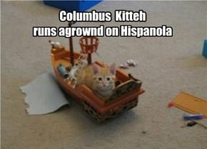 Columbus  Kitteh   runs agrownd on Hispanola