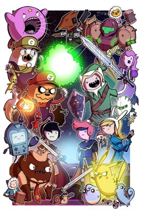 What Happens When Adventure Time Meets Video Games?