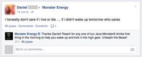 Thanks for Caring, Monster