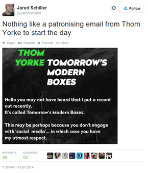 Radiohead's Thom York Promotes His New Free Album With a Condescending E-Mail