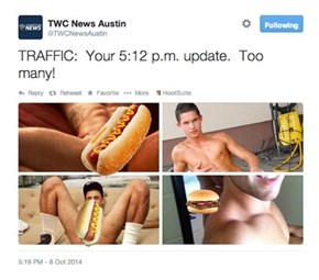Someone is Going to Get Fired for TWC News Austin's Dong-tastic Accidental Tweet