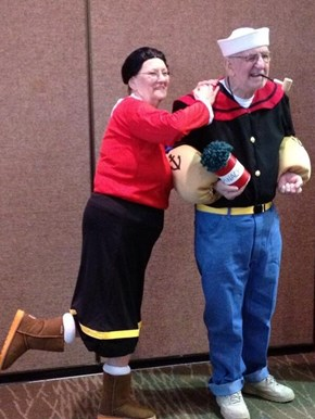 You're Never Too Old For Couple's Costumes