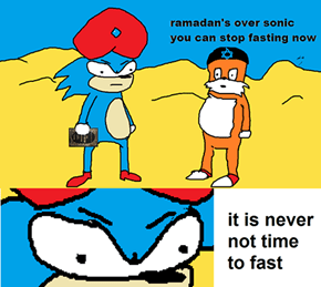 Never Knew Sonic Was So Religous