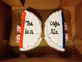 The is a Cake Lie