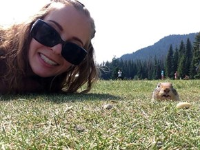 Who Would Have Thought a Canadian Woman and a Squirrel Would Capture a Flawless Selfie?