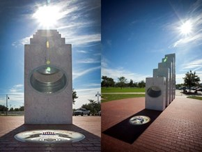 Once a Year at 11:11 a.m., This Memorial Captures the Sunlight Perfectly to Form the Great Seal of the United States