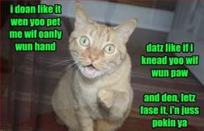 I'n a 2 Handz No Wait'n Kinda Cat