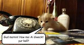 Gud mornin! How mai Ai diweckt yur kall?