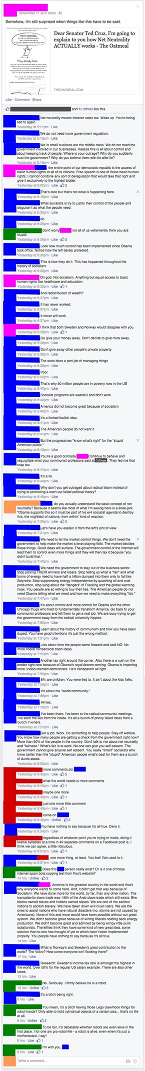 A Really Long, Drawn-Out Political Conversation? Facebook is the Perfect Place!