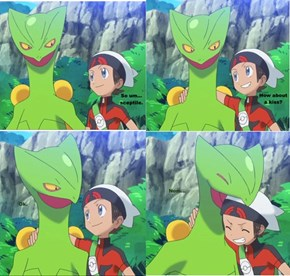 Brendan Putting the Moves on Sceptile