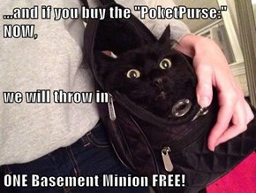 "...and if you buy the ""PoketPurse:"" NOW, we will throw in ONE Basement Minion FREE!"