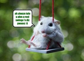 ah alwaze tole u ahm a reel swinga 'n diz pwoovz  it