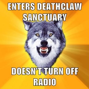 ENTERS DEATHCLAW SANCTUARY  DOESN'T TURN OFF RADIO