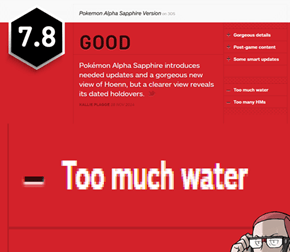 According to IGN, ORAS is Bad Because of TOO MUCH WATER