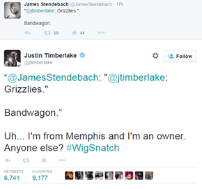 Someone Tried to Call Out Justin Timberlake's Love of the Memphis Grizzlies, JT Shuts it Down Immediately