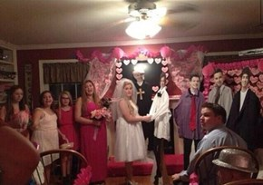 Getting Married to a Cardboard Cutout of Harry Styles. Just... Wow...