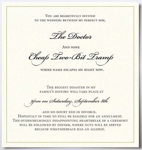 An Honest Wedding Invitation