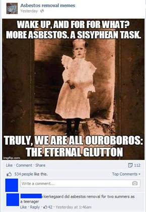 The Leap of Faith Wouldn't be so Scary if You Had Asbestos by Your Side