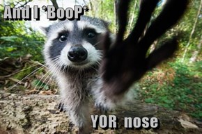 And I *BooP*                YOR  nose