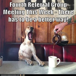 Fourth Referral Group Meeting This Week - There has to be a better way!