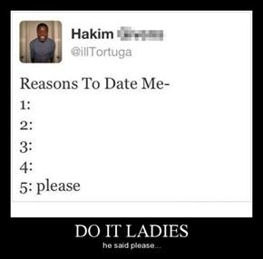 Reason Six: He's Polite